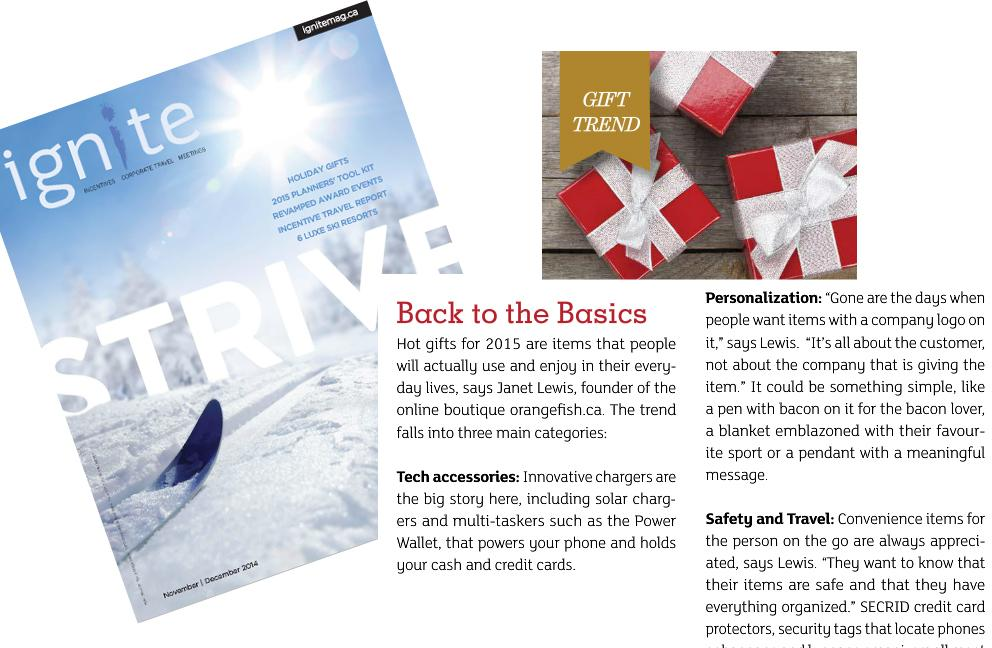 Ignite Magazine - Strive - Nov 2014 - Top Gifts for 2015