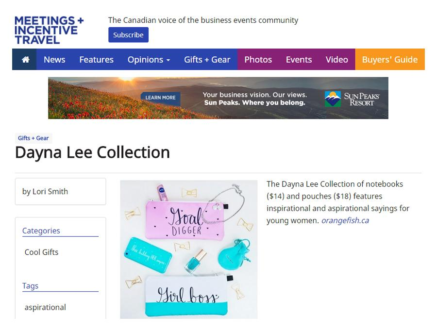 Meetings and Incentive Travel - Gifts and Gear - Dayna Lee Collection