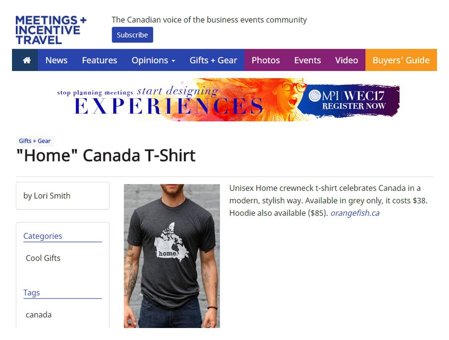 Meetings and Incentive Travel - Gifts and Gear - The Home T Canada