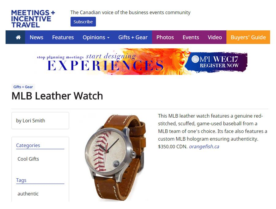 Meetings and Incentive Travel - Gifts and Gear - MLB Baseball Watch