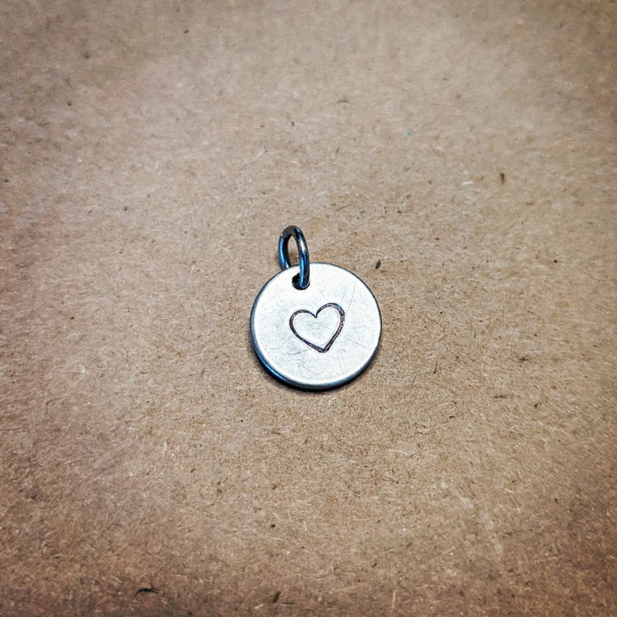 Heart in a Circle Charm