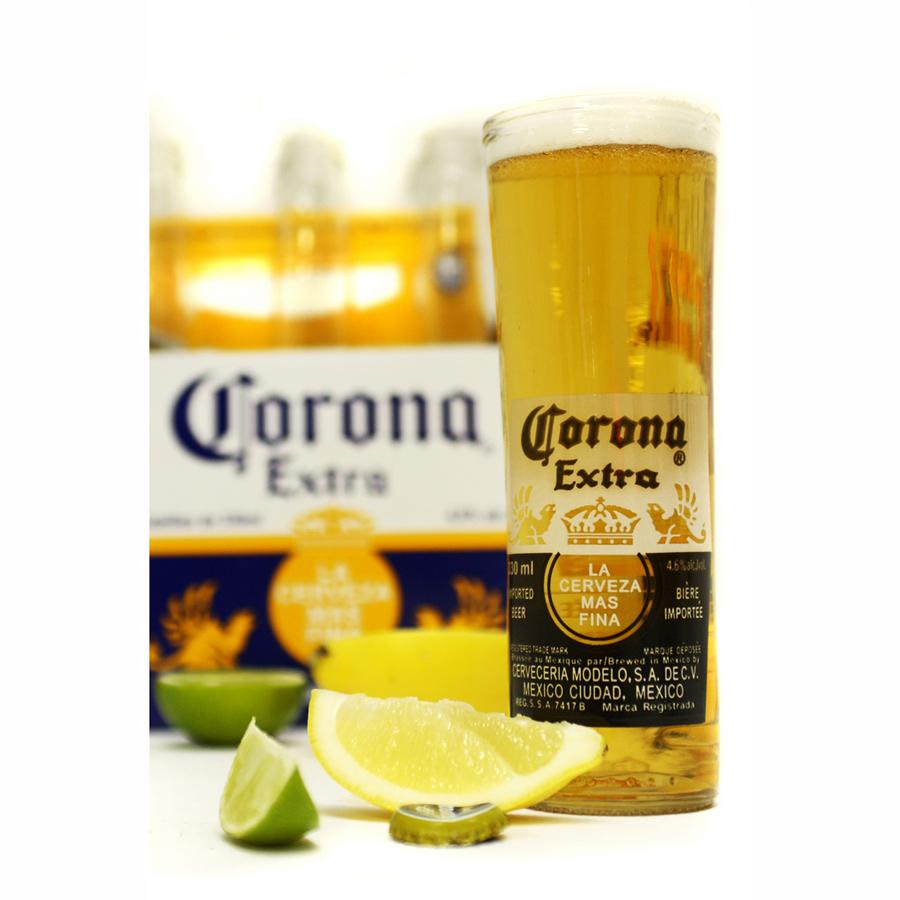 Corona Upcycled Beer Glass