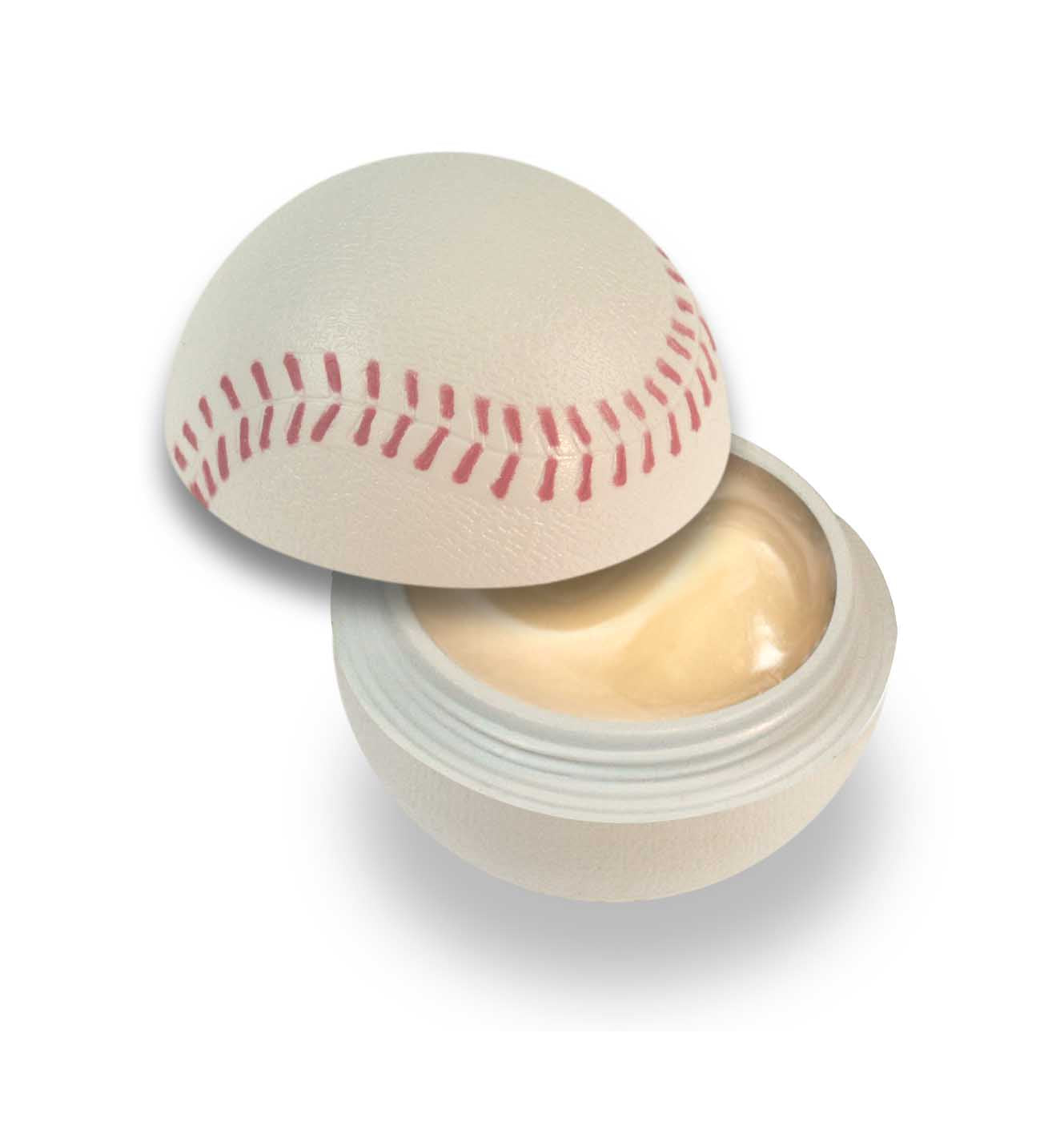 Baseball Lip Balm with Key Chain