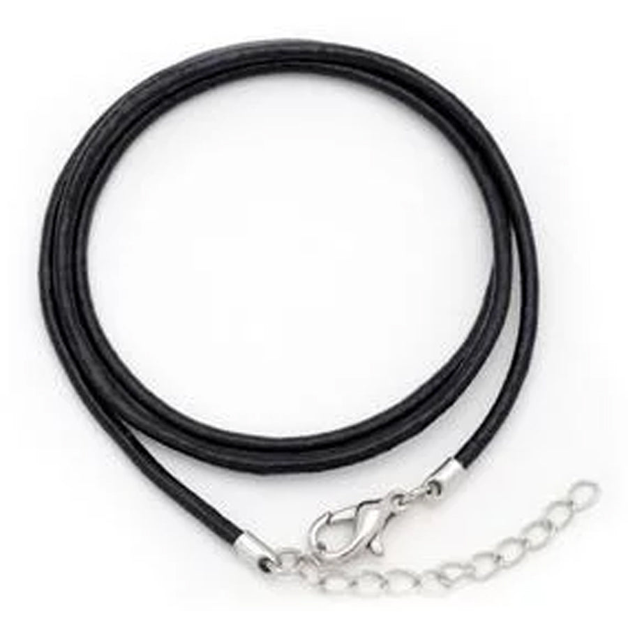 Custom Workout Necklace - Black Leather Rope