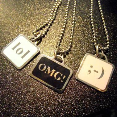 Wink Text Necklace