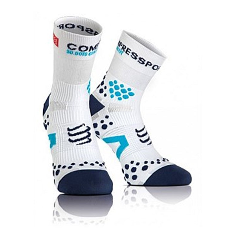 Pro Racing Compression Socks - Run High - V 2.0 Fluo Blue
