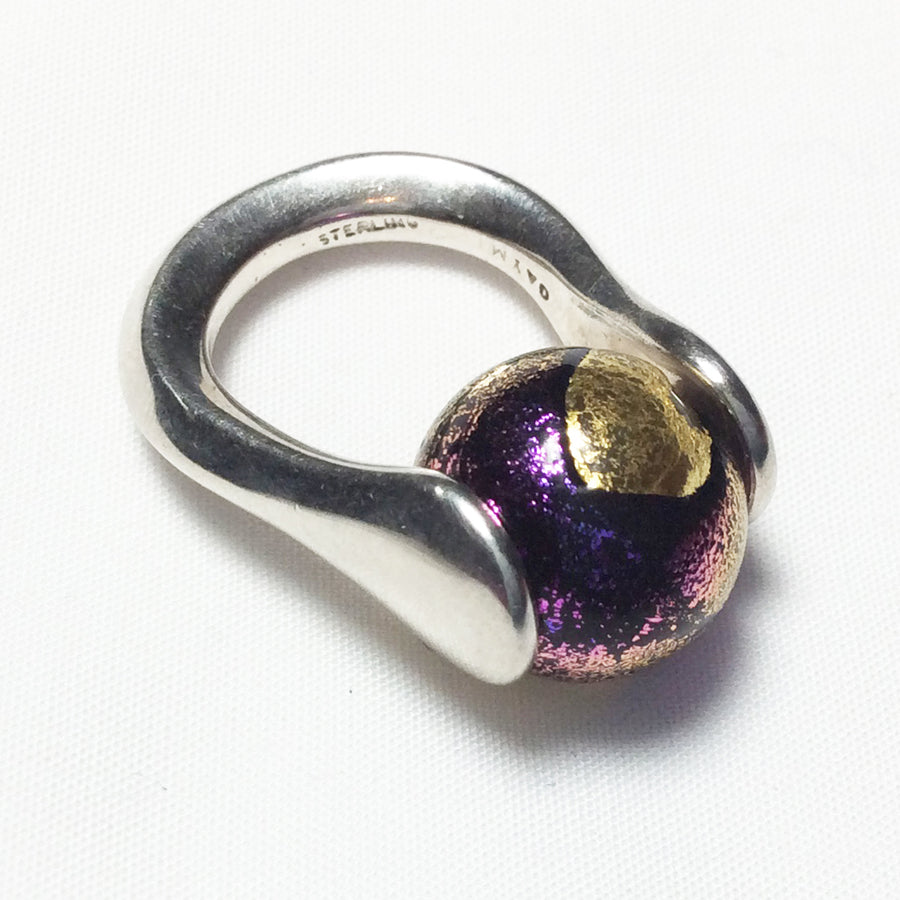 Purple Gold Glass Marble