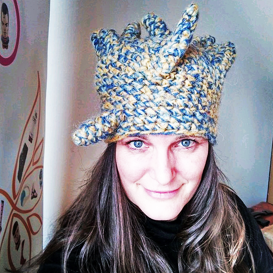 Yellow & Blue Spike Hat