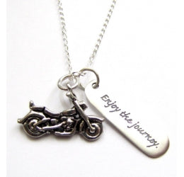 Enjoy the Journey Motorcycle Necklace