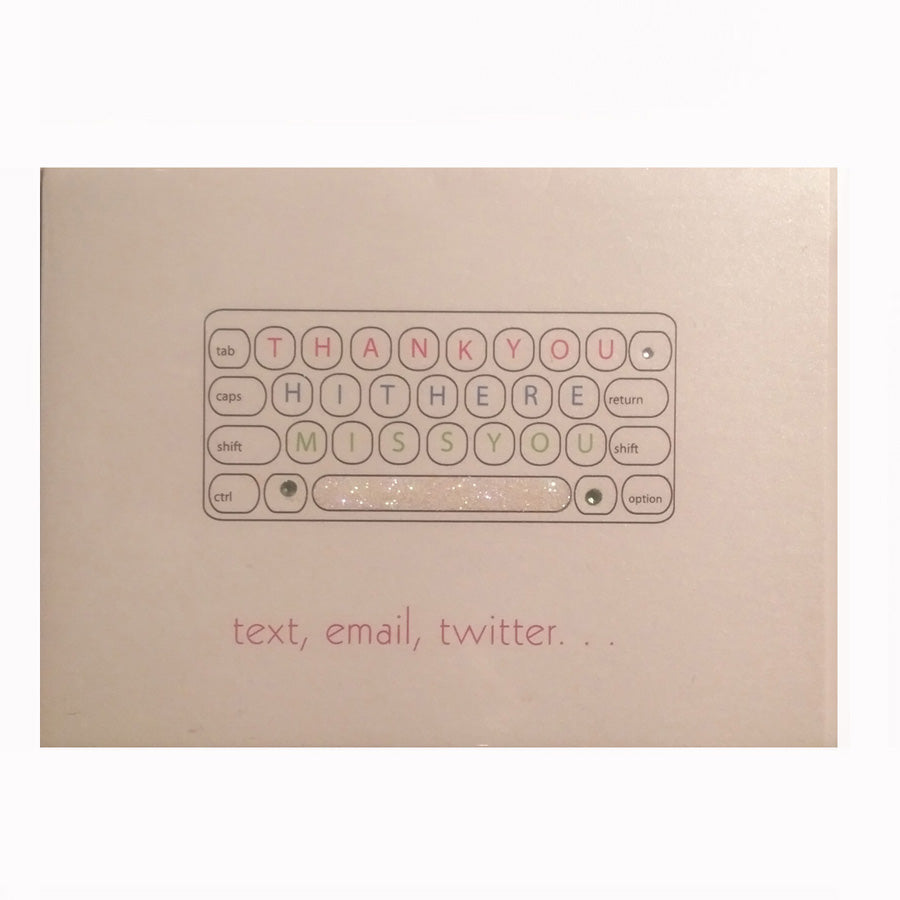 Text, email, Twitter Greeting Card