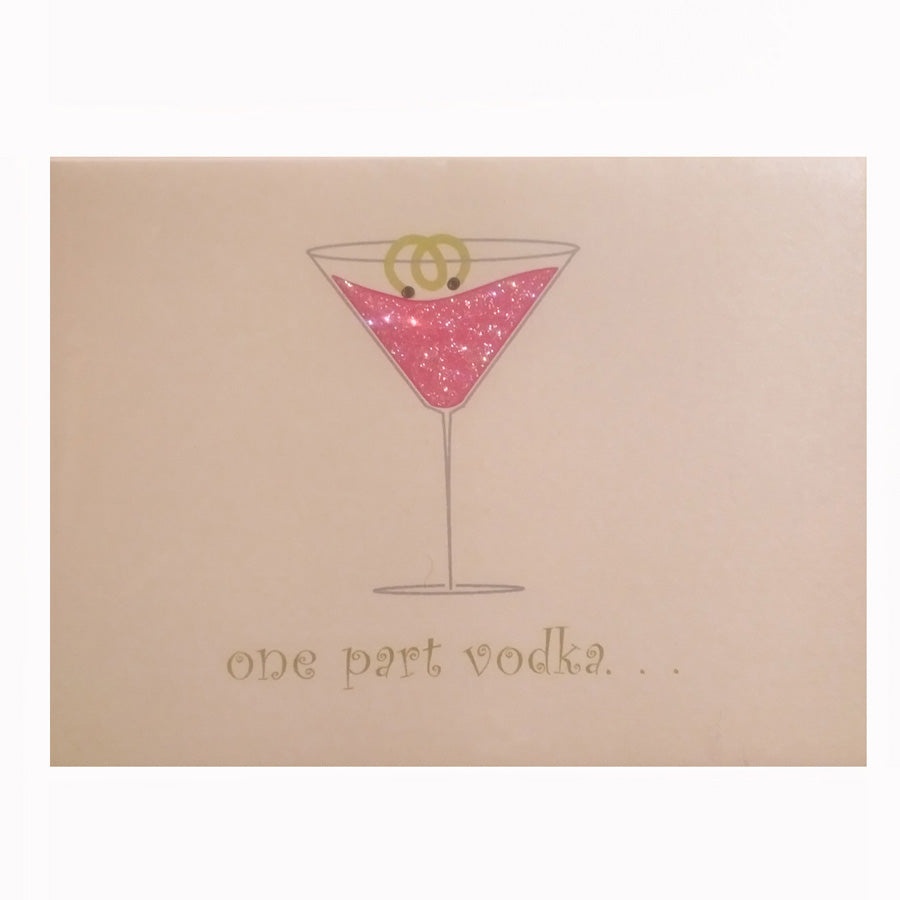 One Part Vodka Greeting Card