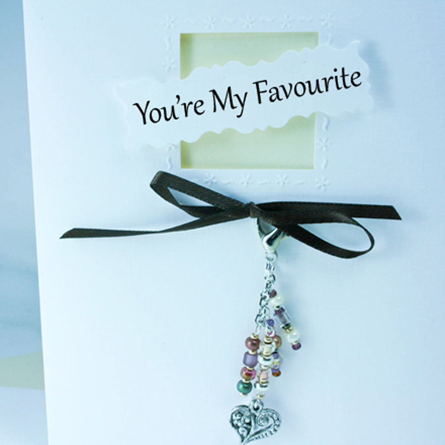 You're My Favorite Greeting Card & Charm