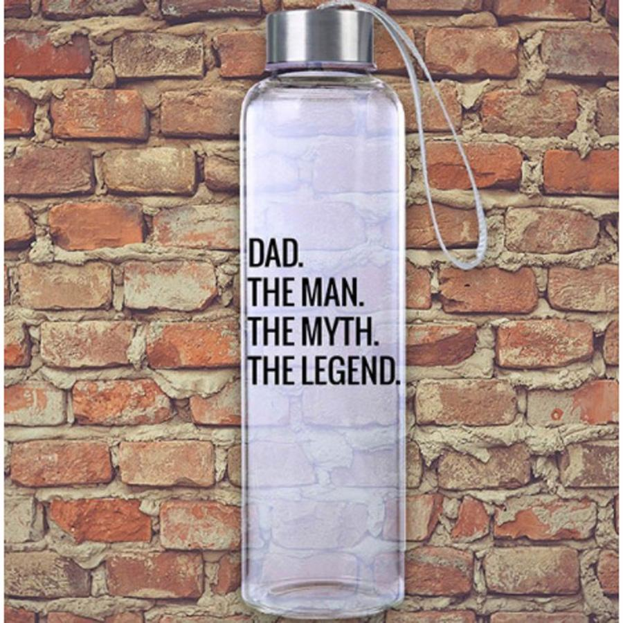 Dad The Man, The Myth, The Legend M20 Glass Hydro Water Bottle