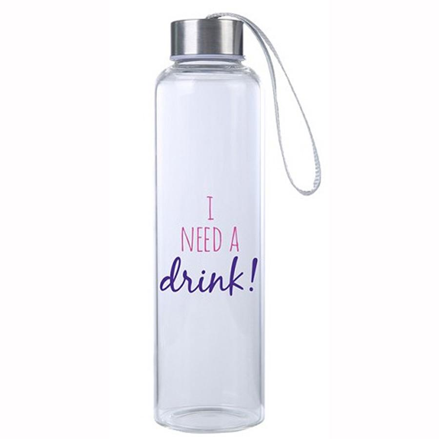 I Need a Drink M20 Glass Hydro Water Bottle