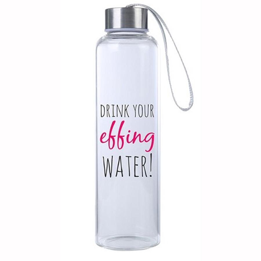 Drink Your Effing Water M20 Glass Hydro Water Bottle