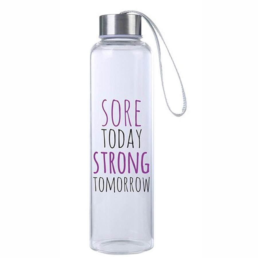 Sore Today Strong Tomorrow M20 Glass Hydro Water Bottle