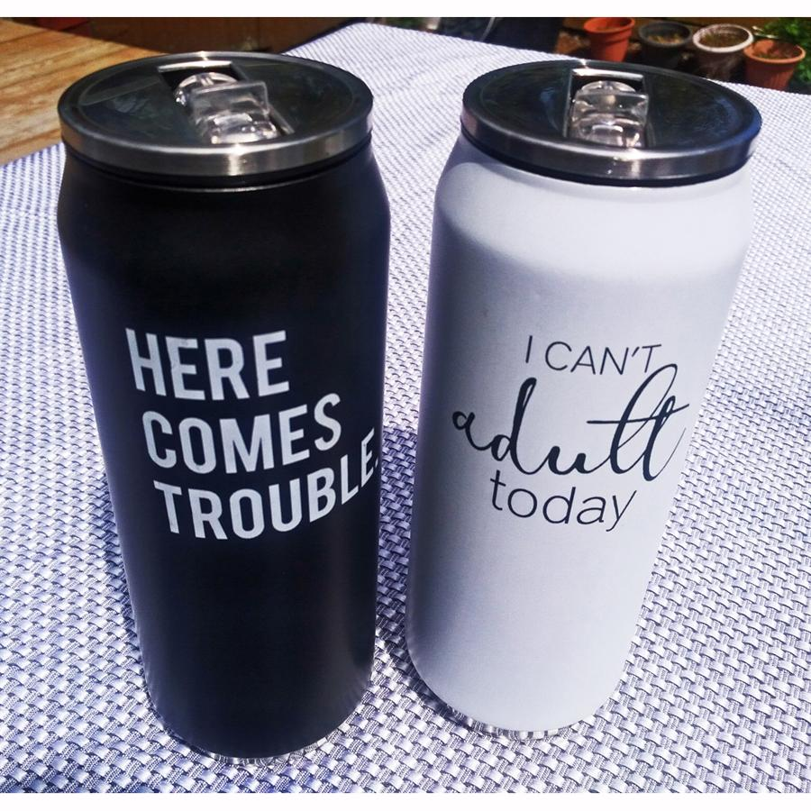 Here Comes Trouble Insulated Water Bottle