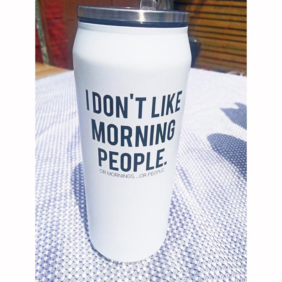 I Don't Like Morning People Insulated Water Bottle