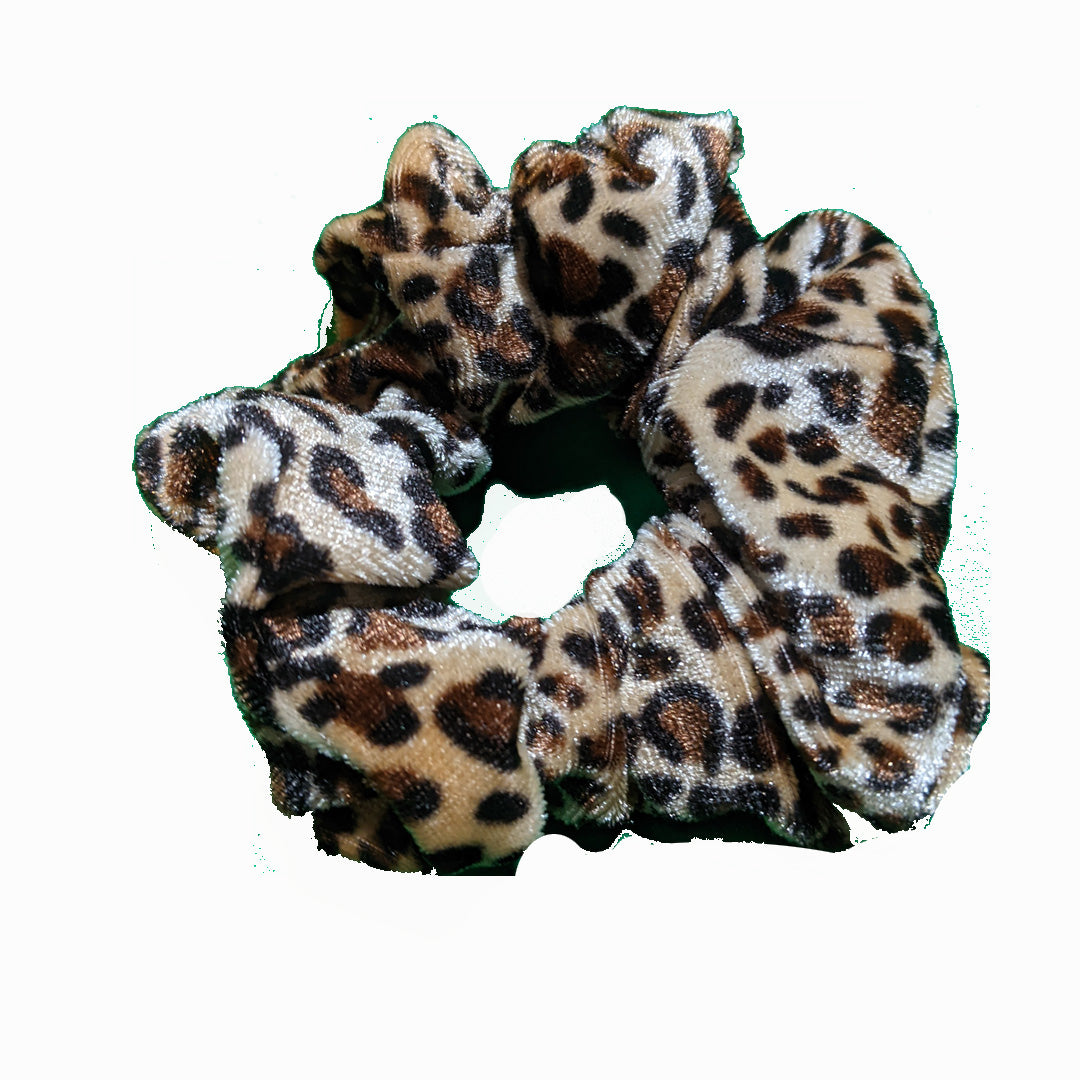 Animal Print Caramel Leopard Scrunchies