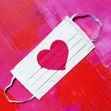 Pink Heart Up Cycled Cotton Face Mask