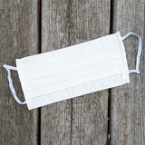 White Up Cycled Cotton Face Mask