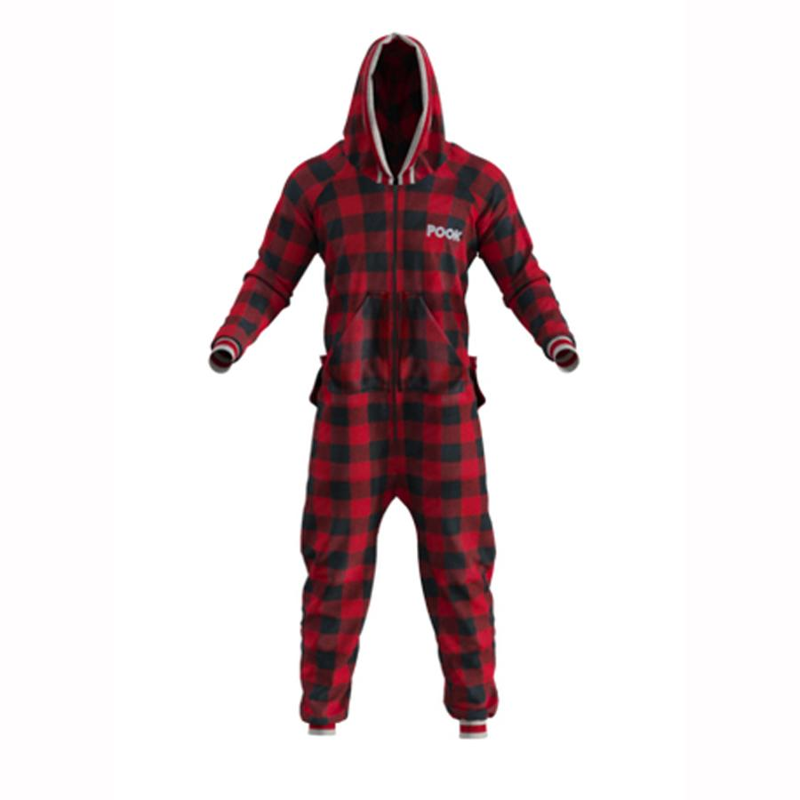 Pook Red Plaid Fleece Onsie