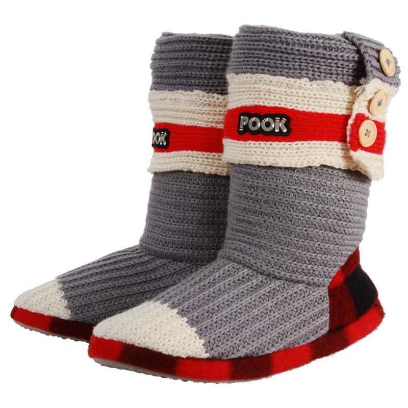 Pook Plaid Thigh High Socks