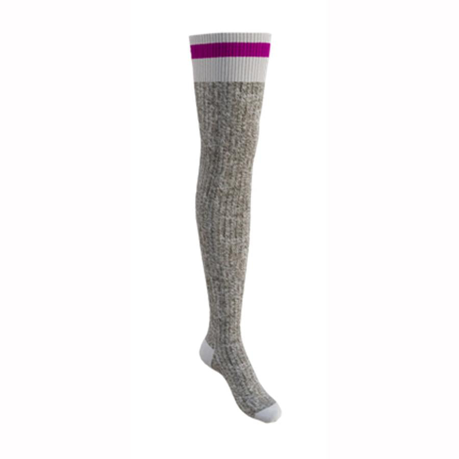 Pook Pink Stripe Thigh High Socks