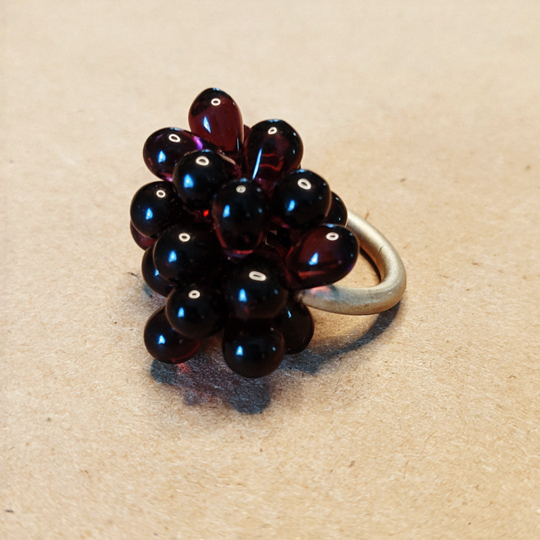 Purple Roe Sterling Ring