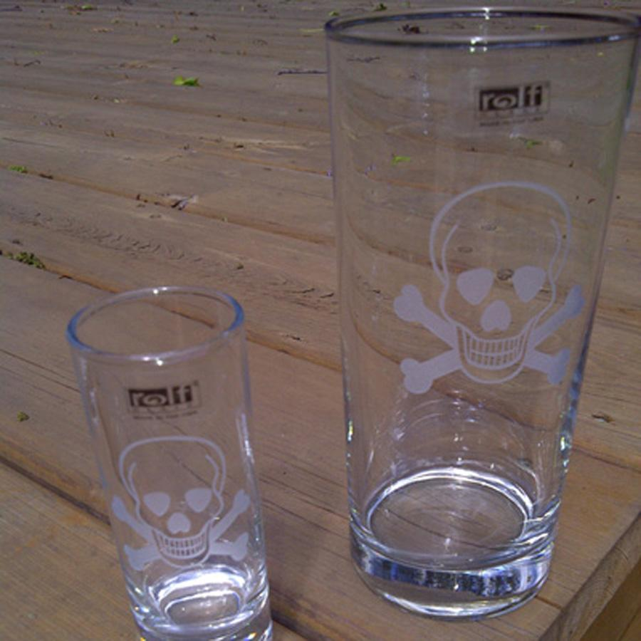 Skull Cordial Glasses