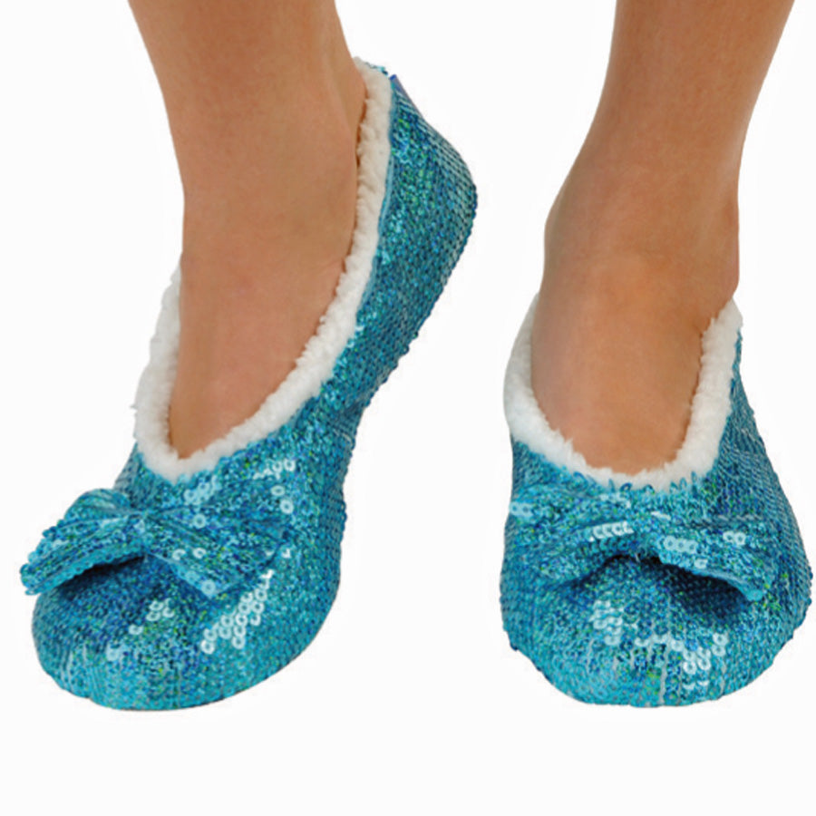 Aqua Marine Brilliance Bling Metallic Snoozies