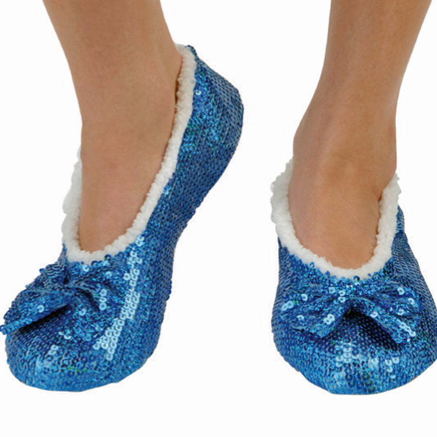 Indigo Brilliance Bling Metallic Snoozies