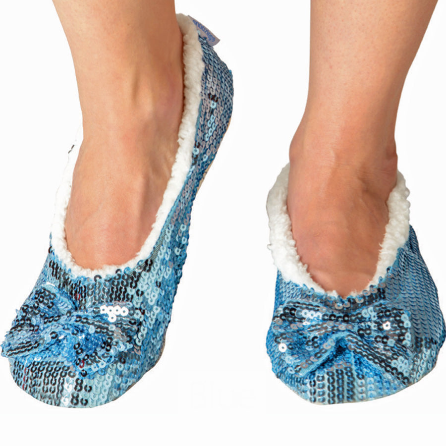 Blue Classic Bling Metallic Snoozies