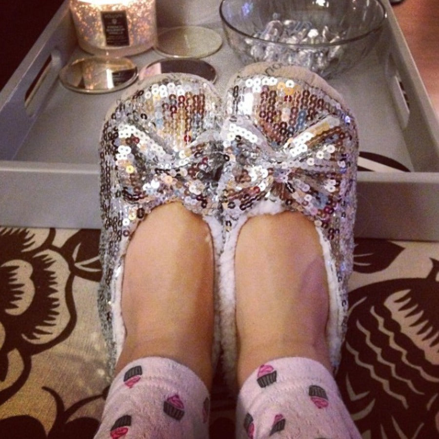 Silver Classic Bling Metallic Snoozies