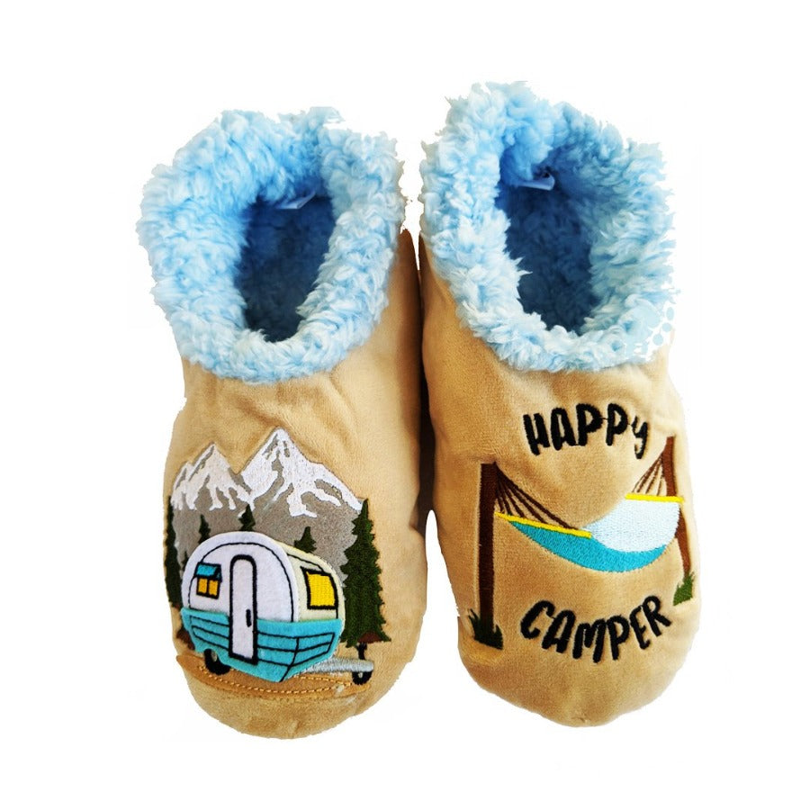 Snoozies-Slippers-Canada-Toronto-Happy-Camper