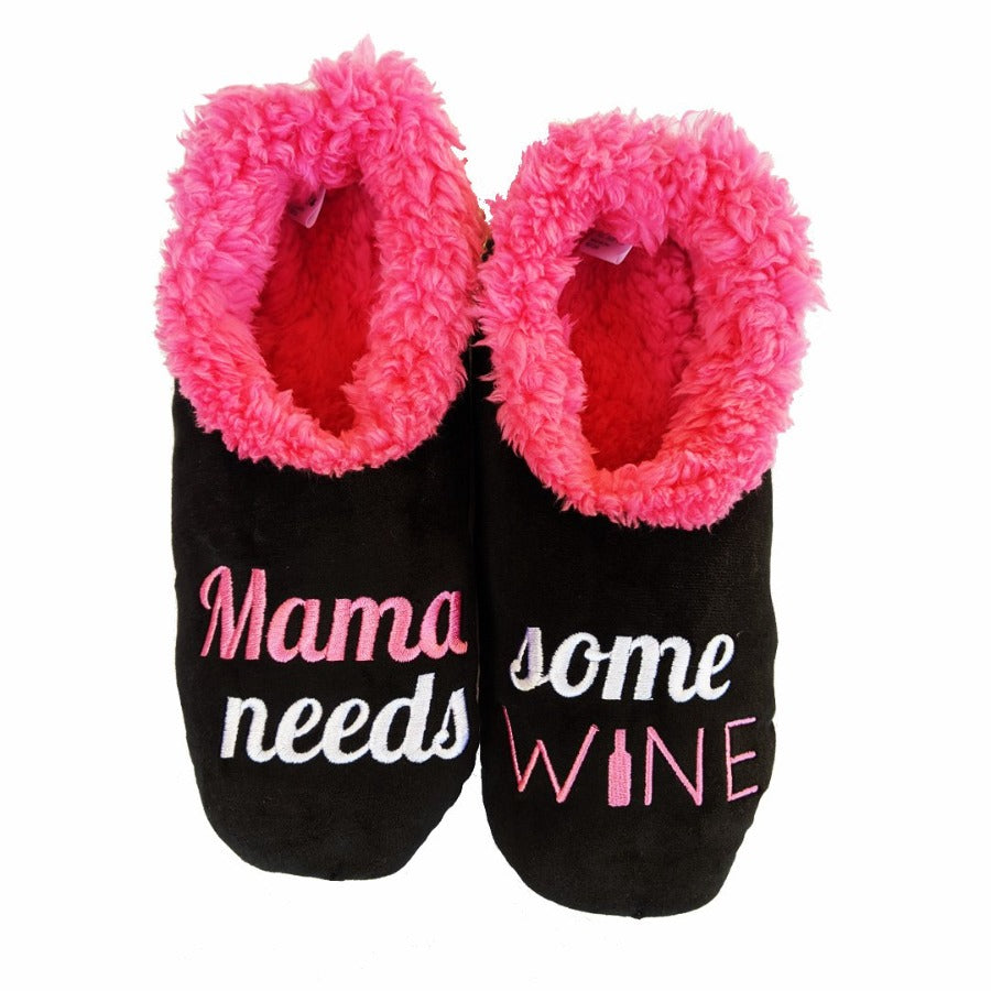 Mama Needs Wine Slippers