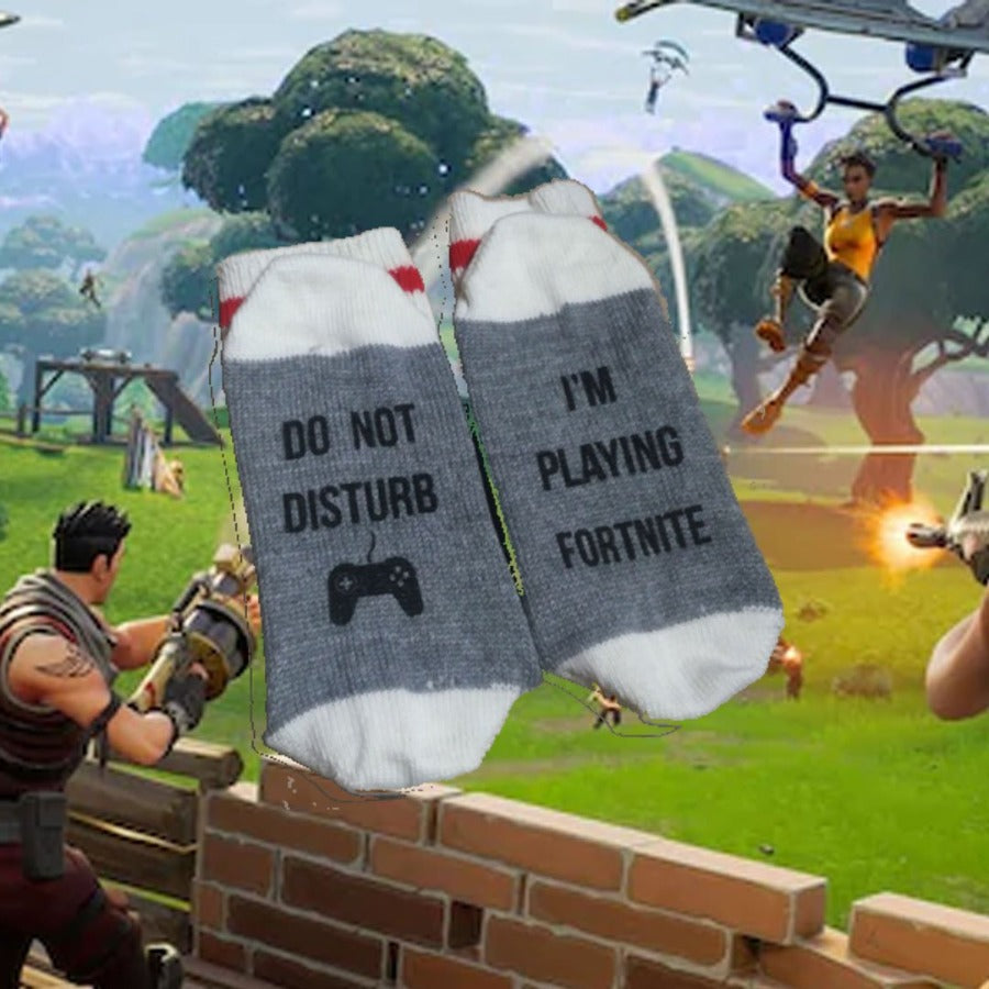 Do Not Disturb I AM Playing Fortnite Merino Wool Socks