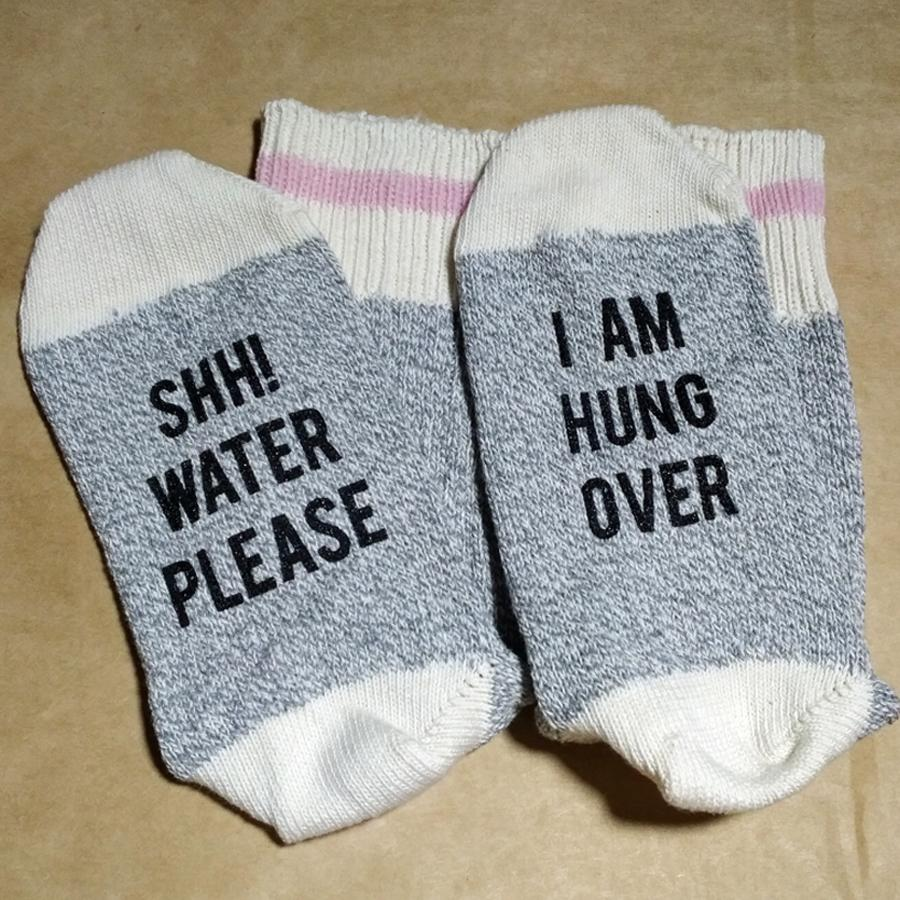 Shh! Water Please. I am Hung Over Unisex Cotton Sock