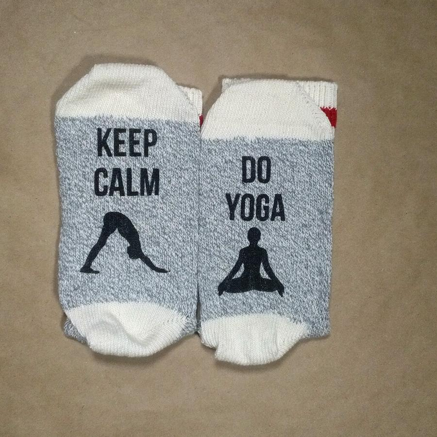 Keep Calm, Do Yoga Unisex Cotton Socks