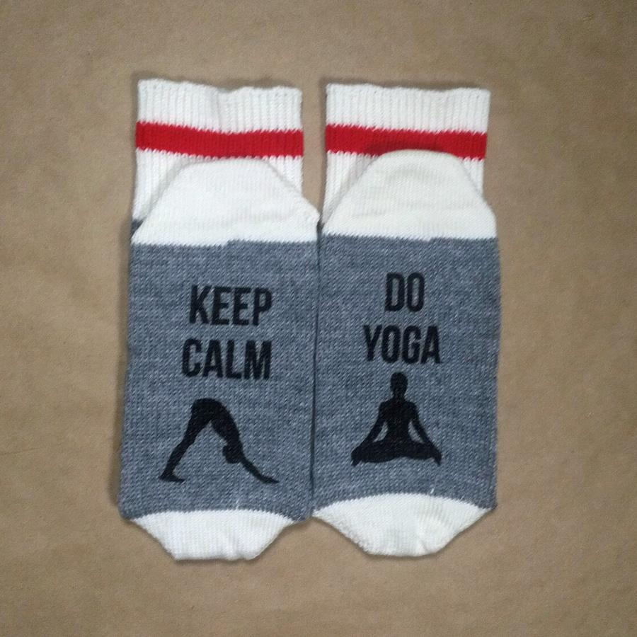 Keep Calm, Do Yoga Wool Socks