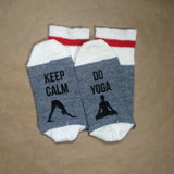 Yoga-Socks-Keep-Calm-Made-In-Canada-Toronto
