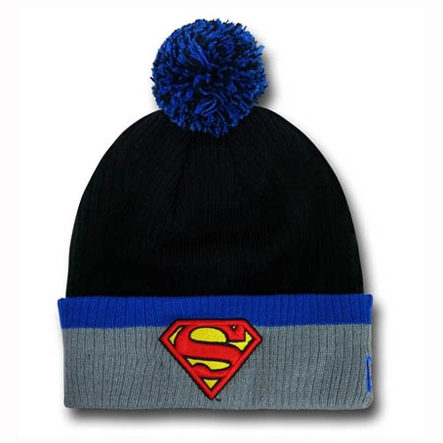 Superman Pom Pom Hat