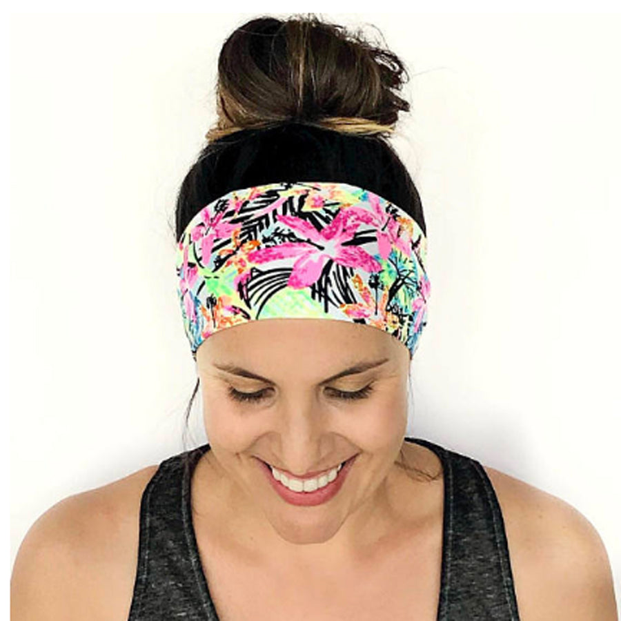 New Zealand Flowers Fitness & Yoga Headband