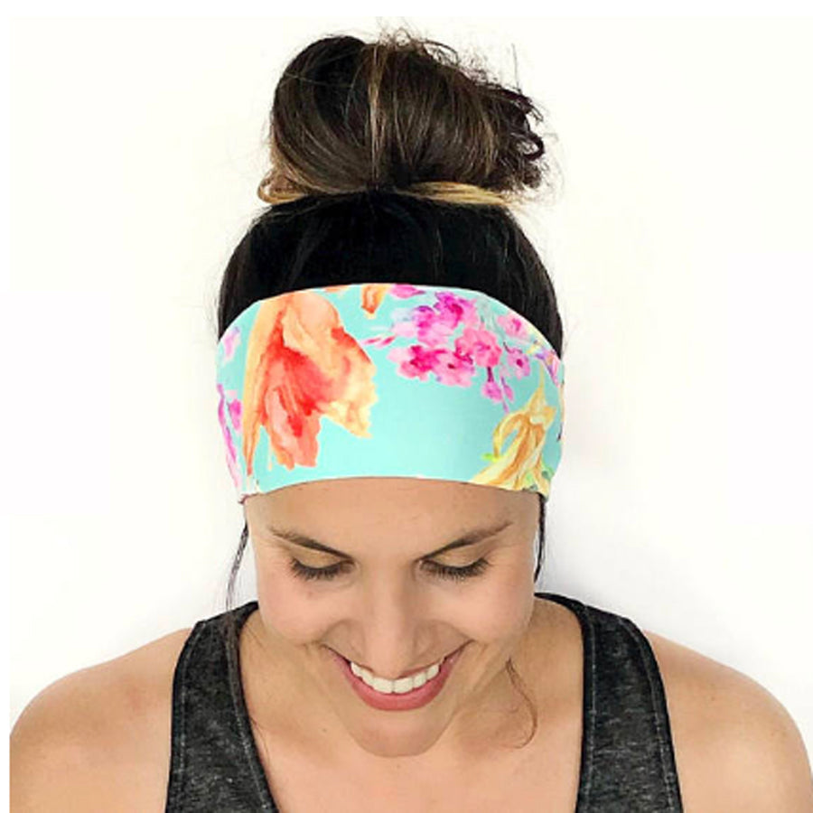 Painted Flowers Fitness & Yoga Headband