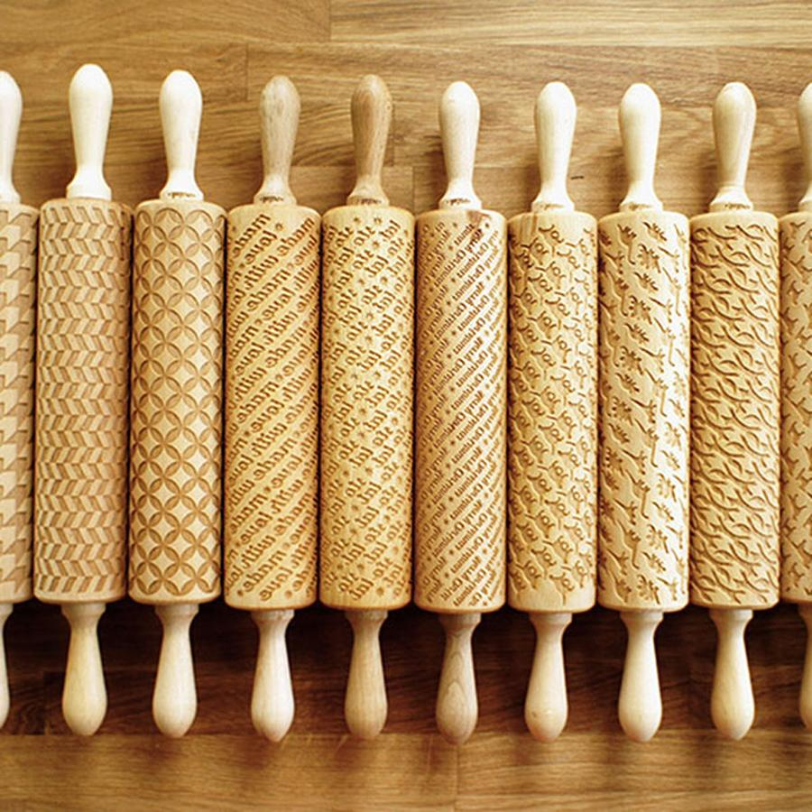 Celtic Knot Embossing Rolling Pin