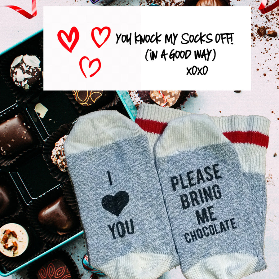 Chocolate-Socks-Heart-Love-Made-In-Canada-Toronto