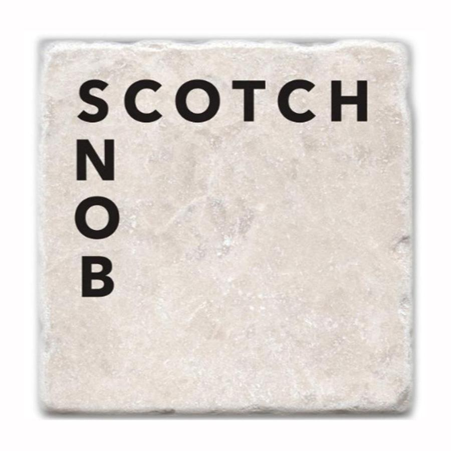 Scotch Snob Marble Coaster Set