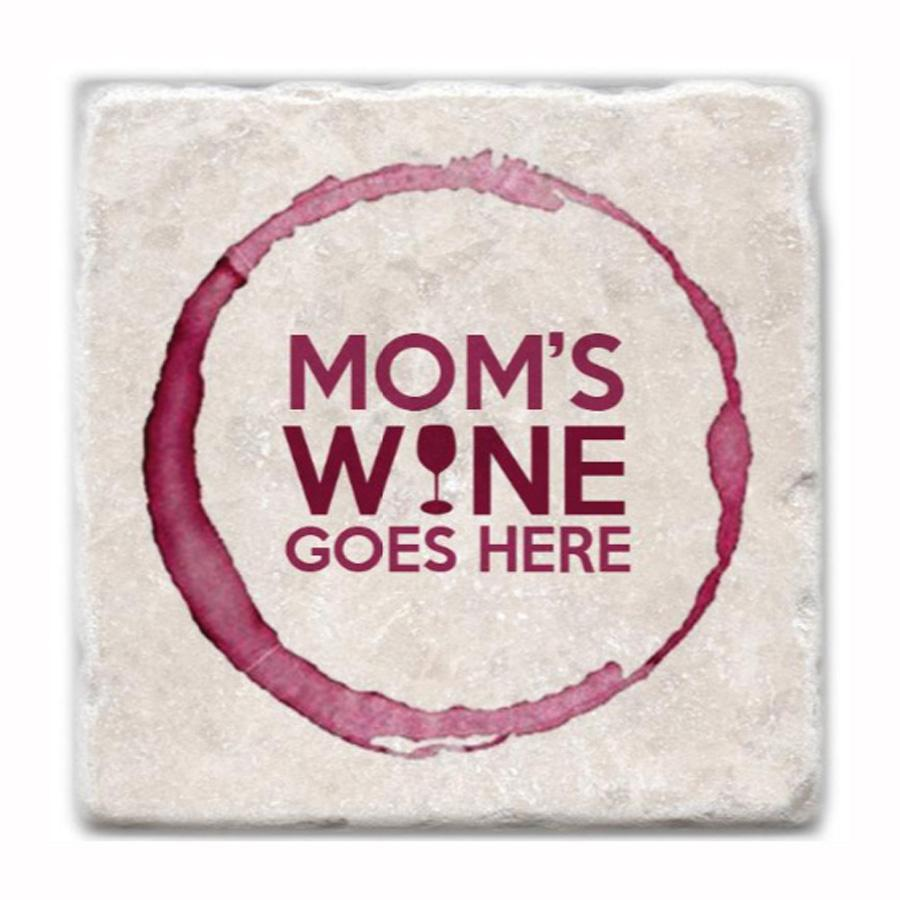 Mom's Wine Marble Coaster
