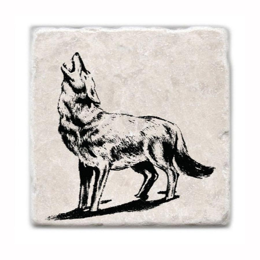 Wolf Marble Coaster