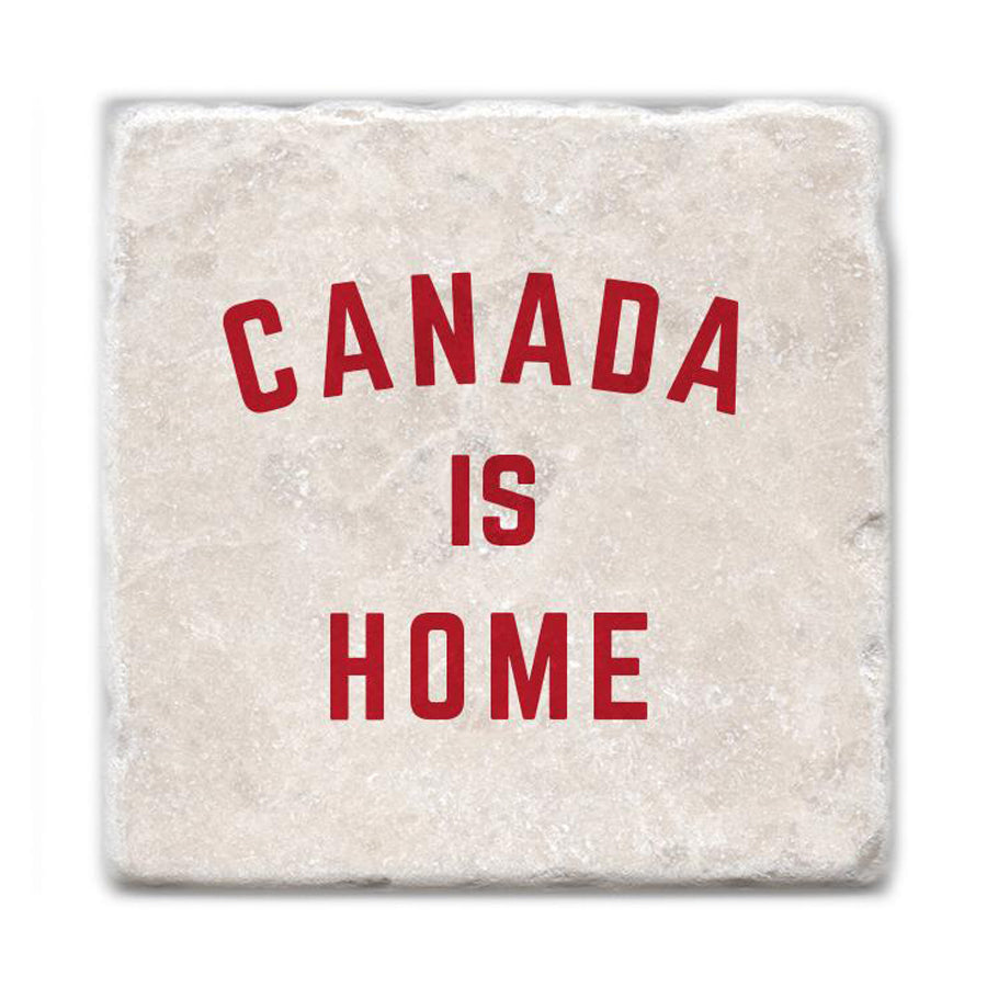 Canada Is Home Marble Coaster